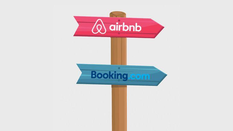Airbnb vs  Booking com