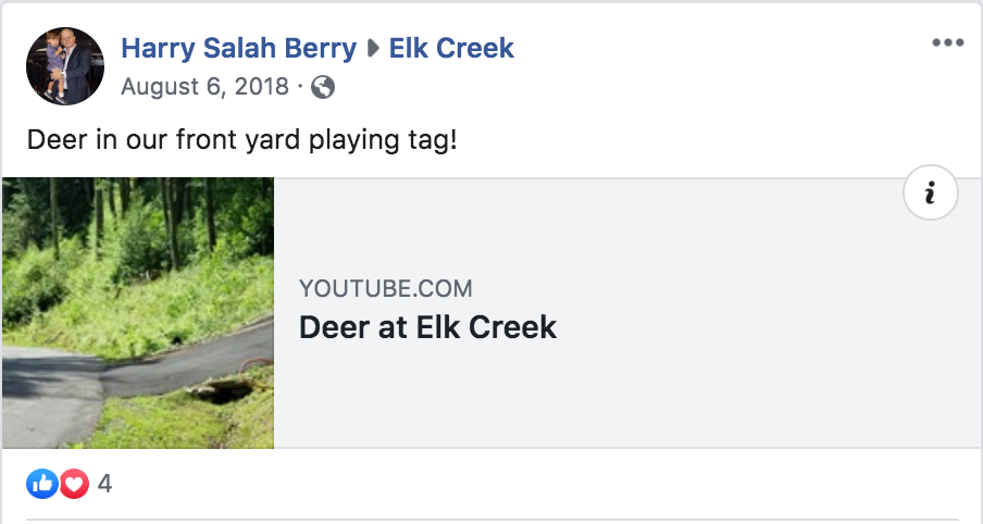 Elk Creek guest Facebook post